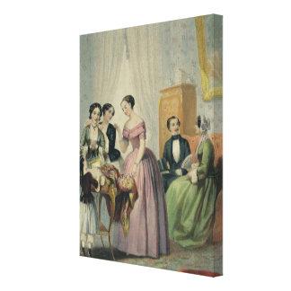 Os presentes de casamento impressão em tela
