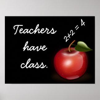 Os professores têm a classe --- Impressão da arte