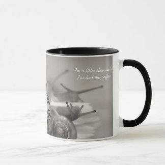 Os provérbios bonitos do café retardam o caracol caneca