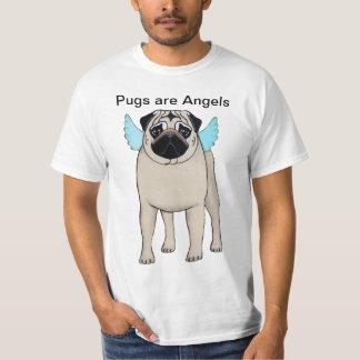 Os Pugs são t-shirt dos anjos