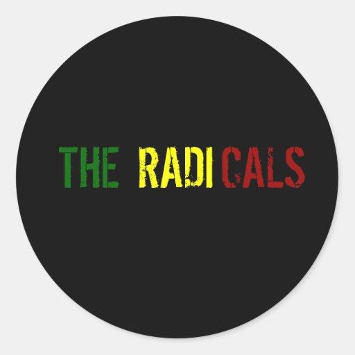Os radicais adesivo em formato redondo