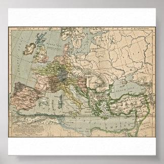 Os reinos germânicos e o império romano do leste e pôster