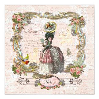 Os rosas cor-de-rosa pretos de Marie Antoinette da Convite