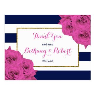 Os rosas Luxe modernos chiques do rosa da coleção Cartão Postal