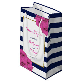 Os rosas Luxe modernos chiques do rosa da coleção Sacola Para Presentes Pequena