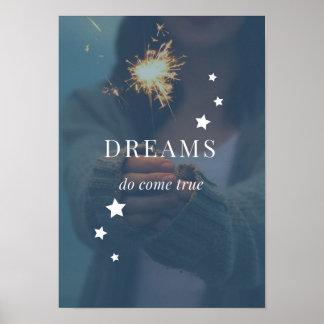 Os sonhos vêm poster verdadeiro
