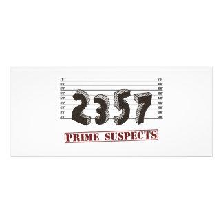 Os suspeitos do número principal 10.16 x 22.86cm panfleto
