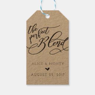 Os Tag perfeitos do favor do casamento da mistura Etiqueta Para Presente