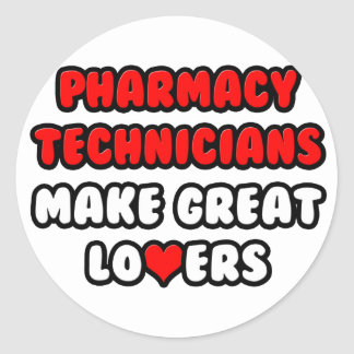 Os técnicos da farmácia fazem grandes amantes adesivo redondo