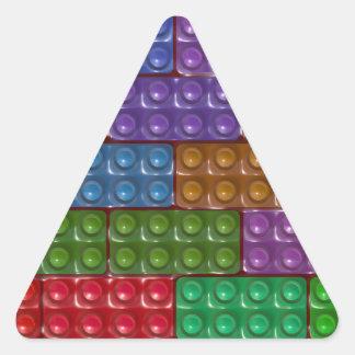 Os tijolos do construtor - arco-íris adesivos em forma de triângulo
