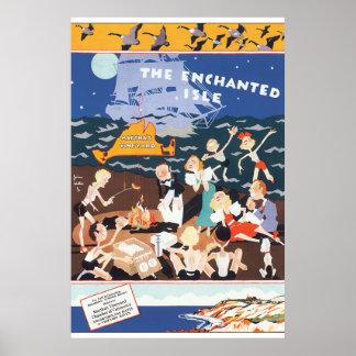 Os trabalhos de arte Enchanted do poster das Pôster
