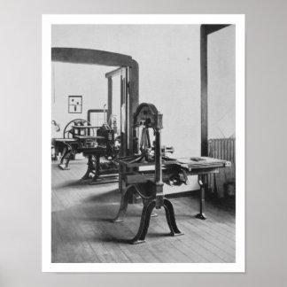 Os trabalhos de impressão, das oficinas do Bauh Poster