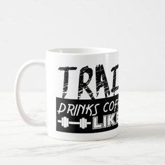 Os trens como um Peon, café das bebidas gostam de Caneca