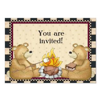Os ursos de acampamento adicionam o convite das