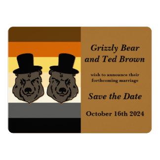 """Os ursos de Baskerville salvar o cartão de Convite 16.51"""" X 22.22cm"""