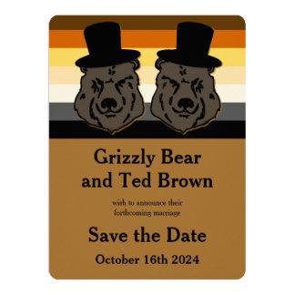 """Os ursos do orgulho do urso salvar o cartão de convite 16.51"""" x 22.22cm"""