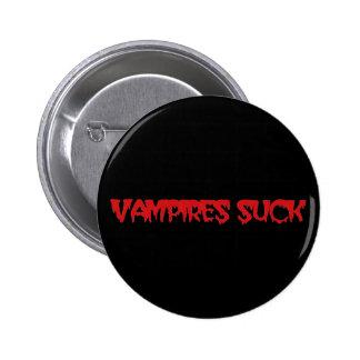 Os vampiros engraçados sugam o Pin do botão do Dia Botons