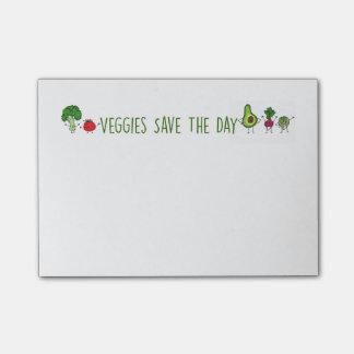 Os vegetarianos salvar as notas de post-it do dia sticky notes