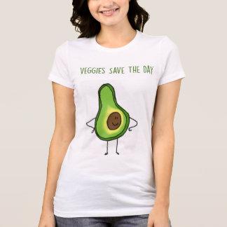 Os vegetarianos salvar o t-shirt do dia (abacate)