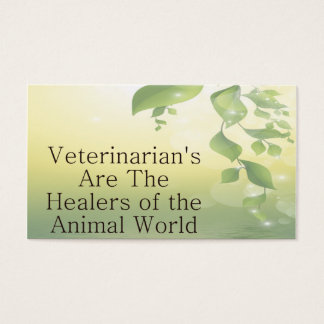 Os veterinários são curandeiros cartão de visita