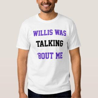 os willis falavam 'o ataque mim camisetas