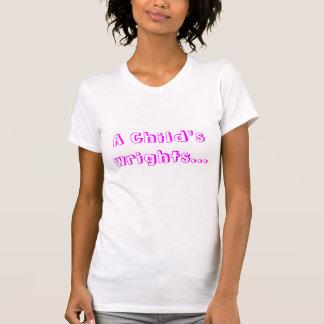 Os wrights de uma criança camiseta
