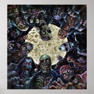 Os zombis atacam (a horda do zombi) pôster