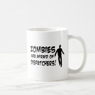 Os zombis estão receosos dos expedidores caneca de café