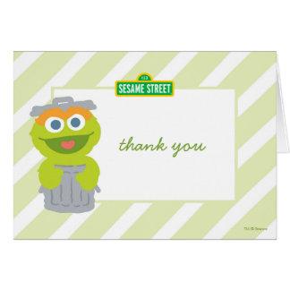 Oscar o obrigado do aniversário do bebê do Grouch Cartão De Nota