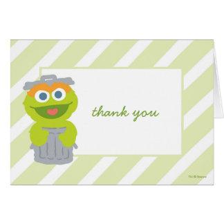 Oscar o obrigado do chá de fraldas do Grouch você Cartão De Nota