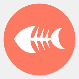 Osso de peixes Appetit! Tomate dos negócios da Adesivo