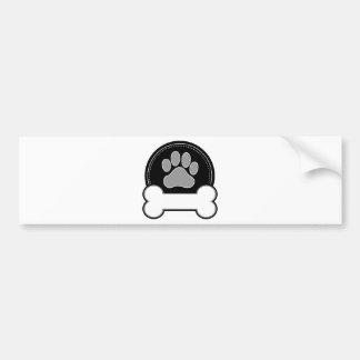Osso e pata de cão adesivo para carro