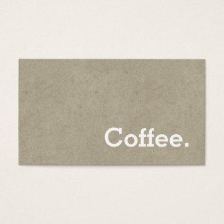 Osso escuro do cartão de perfuração do café da cartão de visitas