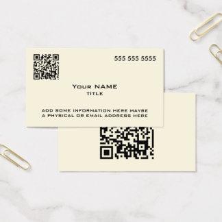 Osso moderno do código feito sob encomenda de QR Cartão De Visitas