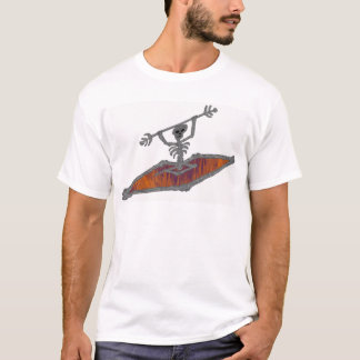 Ossos do aço do caiaque camiseta
