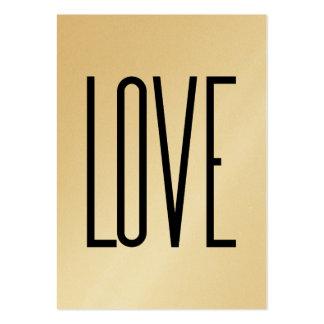 Ou Élégante - amor Cartão De Visita Grande