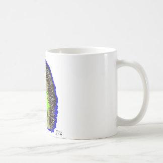 ouriço azul escuro caneca de café