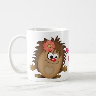Ouriço bonito dos desenhos animados caneca de café