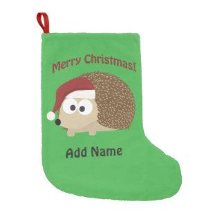 Ouriço customizável do Feliz Natal Meia De Natal Pequena