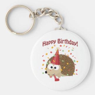 Ouriço do feliz aniversario dos confetes chaveiro
