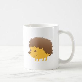 ouriço pequeno bonito caneca de café