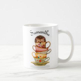 Ouriço personalizado e caneca colorida dos Teacups