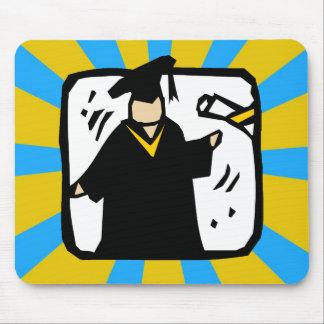 Ouro & azul de recepção graduados do diploma (2) mousepad