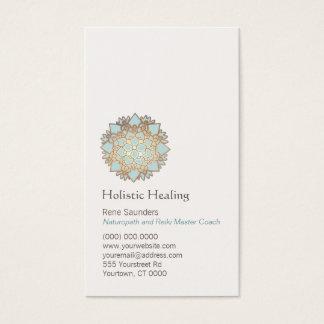 Ouro azul saúde holística e natural de Lotus Cartão De Visitas