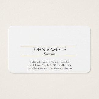 Ouro branco profissional de design moderno cartão de visitas