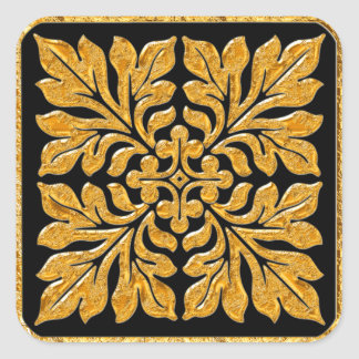 Ouro brilhante brilhante do azulejo antigo do adesivos quadrados