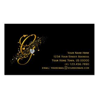 Ouro & cartão de visita inicial de G Stardust dos