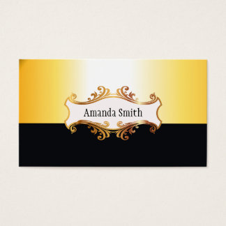 Ouro claro e preto cartão de visitas