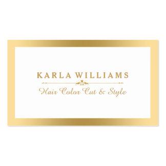 Ouro claro moderno & branco de Minimalistic Cartão De Visita