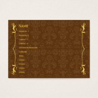 Ouro clássico do quadro cartão de visitas
